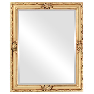 Beveled Mirror - Jefferson Rectangle Frame - Gold Leaf