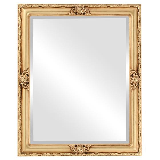 Beveled Mirror - Jefferson Rectangle Frame - Gold Leaf
