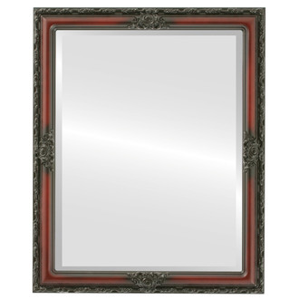 Beveled Mirror - Jefferson Rectangle Frame - Rosewood