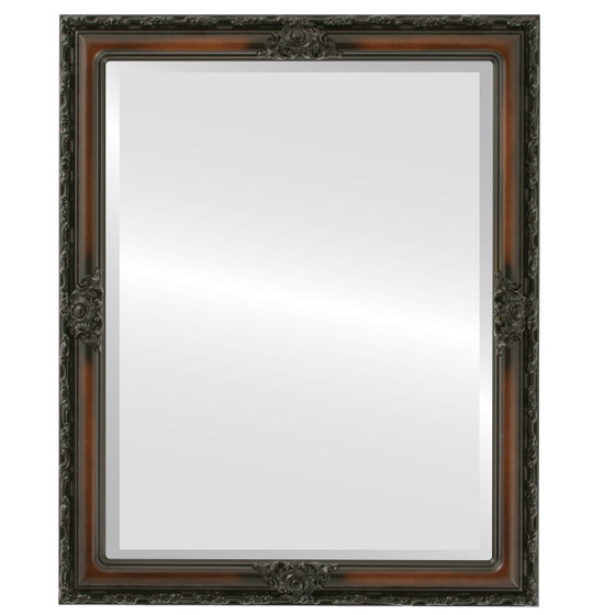 Beveled Mirror - Jefferson Rectangle Frame - Walnut
