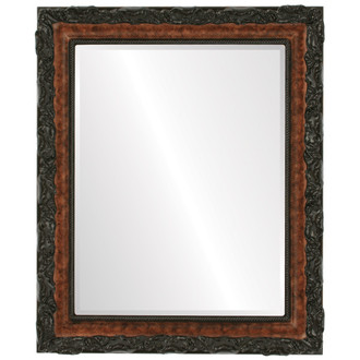 Beveled Mirror - Rome Rectangle Frame - Burlwood