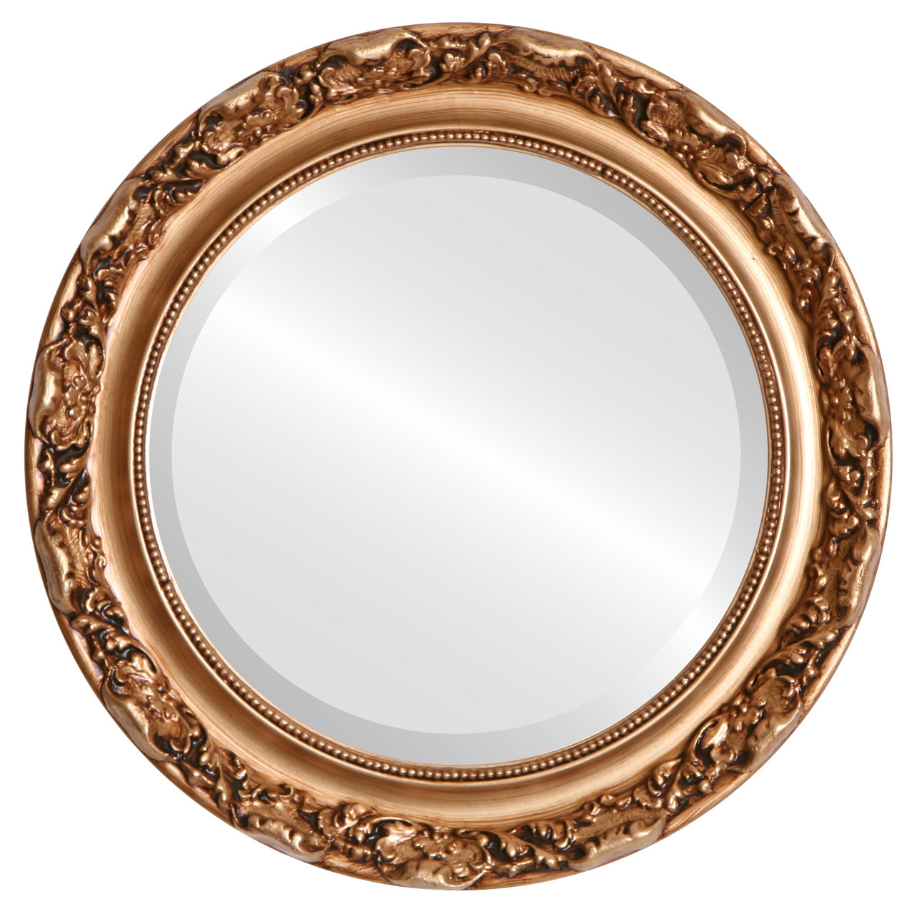 Vintage Gold Round Mirrors from $146 | Free Shipping