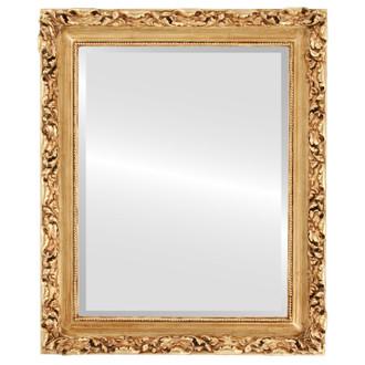 Beveled Mirror - Rome Rectangle Frame - Gold Leaf