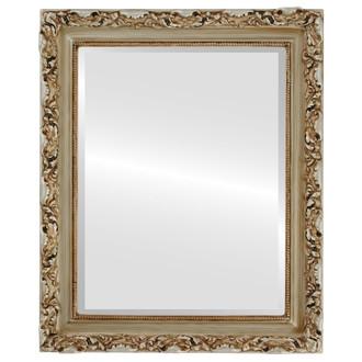 Beveled Mirror - Rome Rectangle Frame - Silver