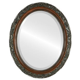Beveled Mirror - Rome Oval Frame - Walnut