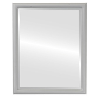 Beveled Mirror - Saratoga Rectangle Frame - Linen White