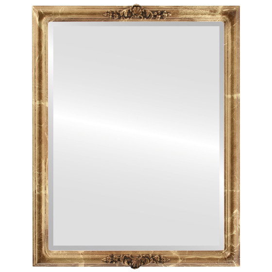 Beveled Mirror - Contessa Rectangle Frame - Champagne Gold