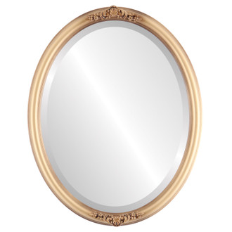 Beveled Mirror - Contessa Oval Frame - Desert Gold