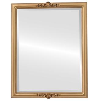Beveled Mirror - Contessa Rectangle Frame - Desert Gold