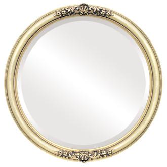 Beveled Mirror - Contessa Round Frame - Gold Leaf