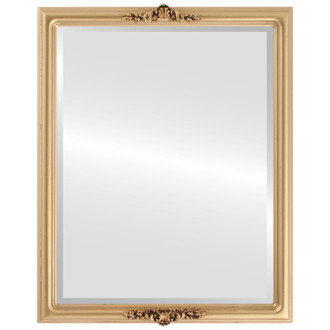 Beveled Mirror - Contessa Rectangle Frame - Gold Spray