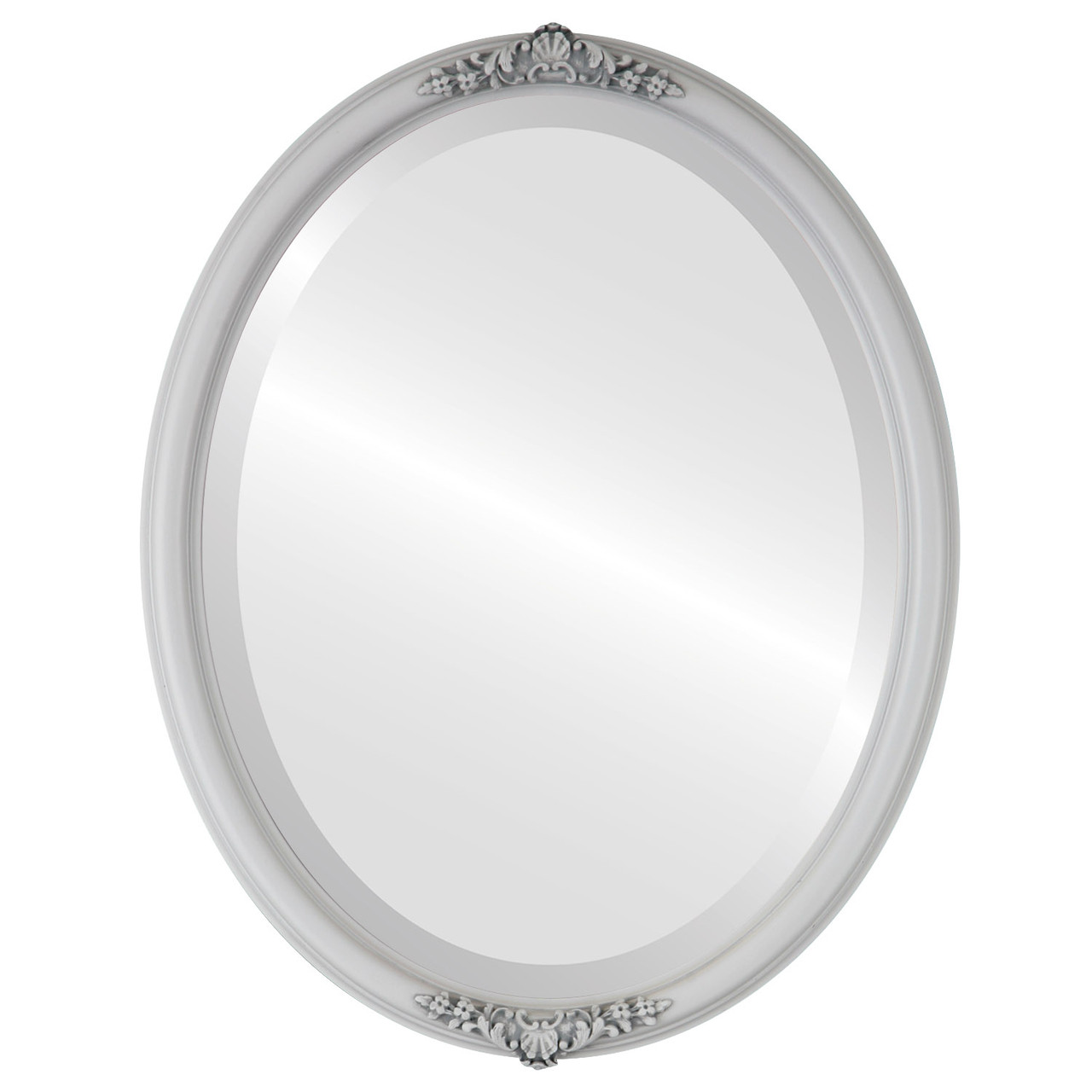 Vintage White Oval Mirrors from $126 | Free Shipping