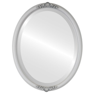 Beveled Mirror - Contessa Oval Frame - Linen White