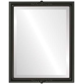 Beveled Mirror - Contessa Rectangle Frame - Matte Black