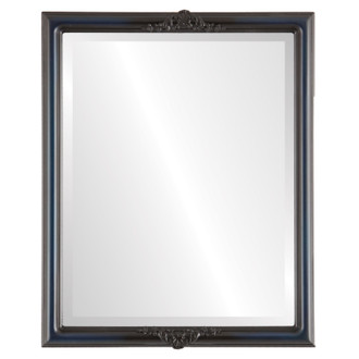 Beveled Mirror - Contessa Rectangle Frame - Royal Blue
