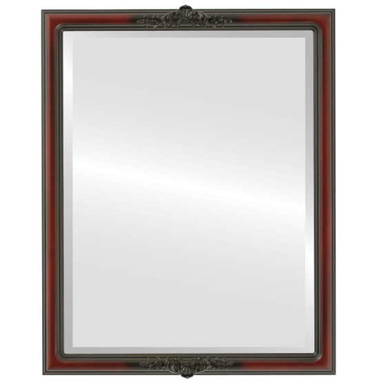 Beveled Mirror - Contessa Rectangle Frame - Rosewood