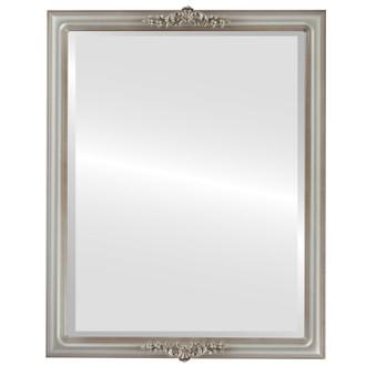 Beveled Mirror - Contessa Rectangle Frame - Silver Shade