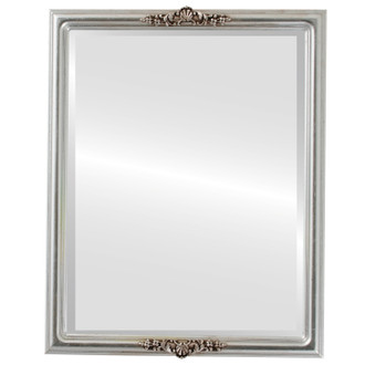 Beveled Mirror - Contessa Rectangle Frame - Silver Leaf with Brown Antique
