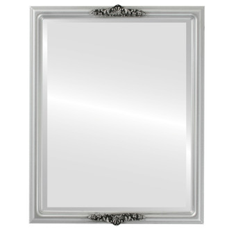 Beveled Mirror - Contessa Rectangle Frame - Silver Spray