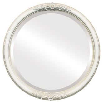 Beveled Mirror - Contessa Round Frame - Taupe