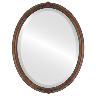 Beveled Mirror - Contessa Oval Frame - Vintage Cherry