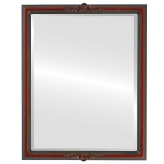 Beveled Mirror - Contessa Rectangle Frame - Vintage Cherry