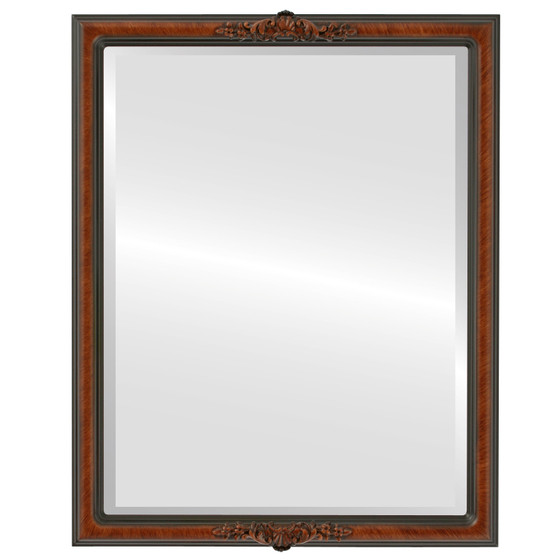 Beveled Mirror - Contessa Rectangle Frame - Vintage Walnut