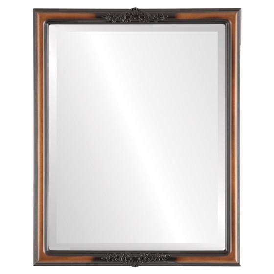 Beveled Mirror - Contessa Rectangle Frame - Walnut