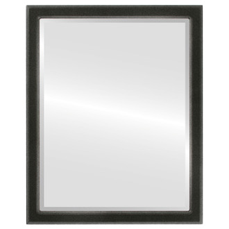 Beveled Mirror - Toronto Rectangle Frame - Black Silver