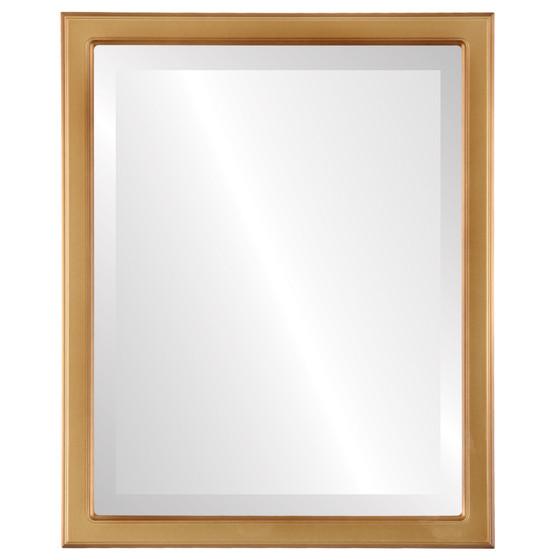 Beveled Mirror - Toronto Rectangle Frame - Desert Gold