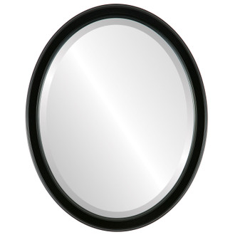 Beveled Mirror - Toronto Oval Frame - Gloss Black