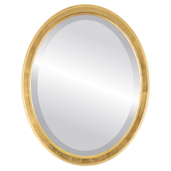 Beveled Mirror - Toronto Oval Frame - Gold Leaf
