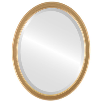 Beveled Mirror - Toronto Oval Frame - Gold Spray