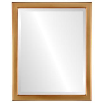 Beveled Mirror - Toronto Rectangle Frame - Gold Spray