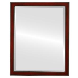 Beveled Mirror - Toronto Rectangle Frame - Rosewood