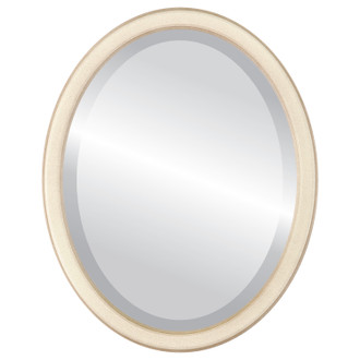 Beveled Mirror - Toronto Oval Frame - Taupe
