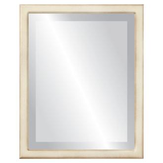 Beveled Mirror - Toronto Rectangle Frame - Taupe