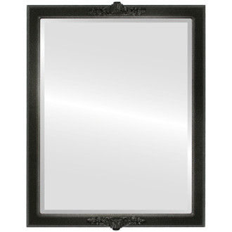 Beveled Mirror - Athena Rectangle Frame - Black Silver