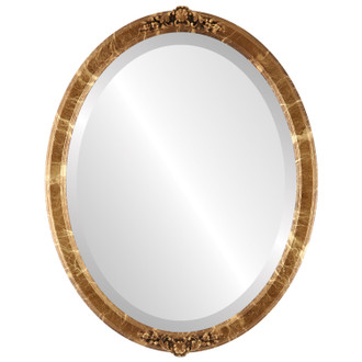 Beveled Mirror - Athena Oval Frame - Champagne Gold
