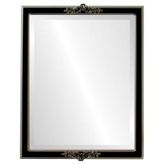 Beveled Mirror - Athena Rectangle Frame - Gloss Black