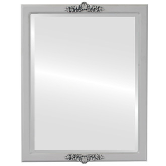 Beveled Mirror - Athena Rectangle Frame - Linen White