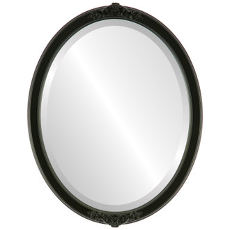 Beveled Mirror - Athena Oval Frame - Matte Black