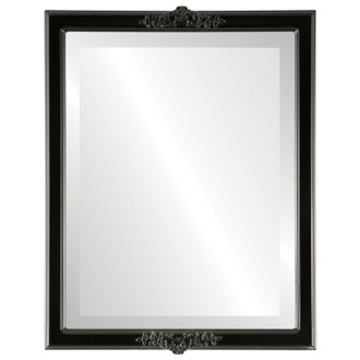 Beveled Mirror - Athena Rectangle Frame - Matte Black