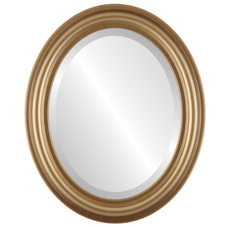 Beveled Mirror - Philadelphia Oval Frame - Desert Gold