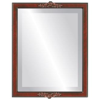 Beveled Mirror - Athena Rectangle Frame - Vintage Cherry