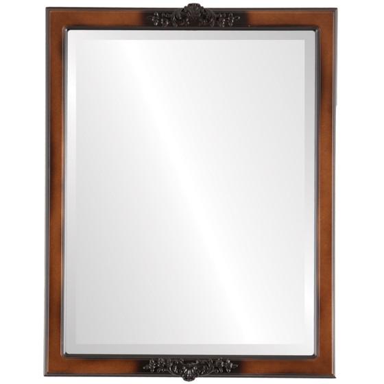 Beveled Mirror - Athena Rectangle Frame - Walnut