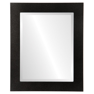 Beveled Mirror - Soho Rectangle Frame - Black Silver