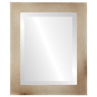 Beveled Mirror - Soho Rectangle Frame - Burnished Silver