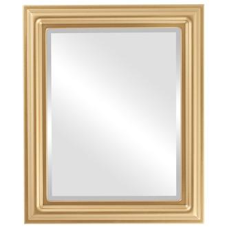 Beveled Mirror - Philadelphia Rectangle Frame - Desert Gold