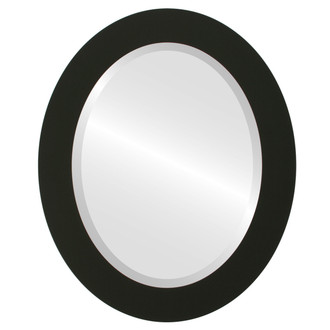 Beveled Mirror - Soho Oval Frame - Matte Black